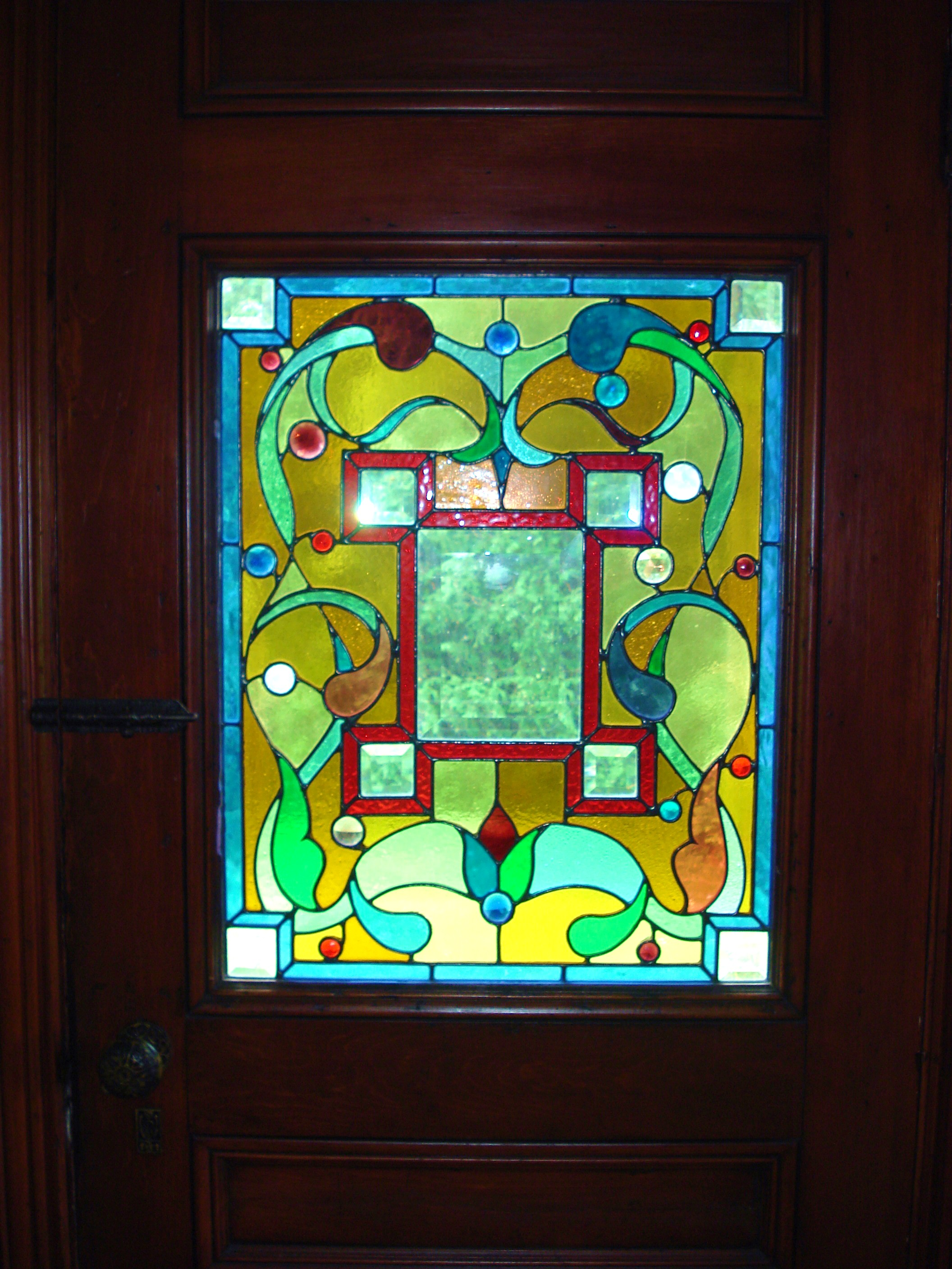 2816 #108DBB Front Door 1 wallpaper Stained Glass Front Doors 40152112